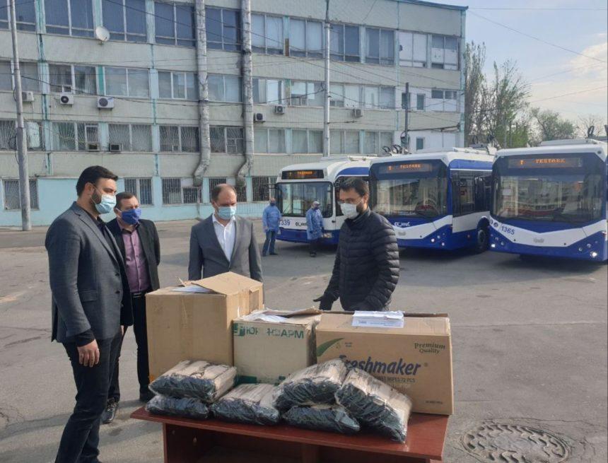 Un lot de 2500 măști de protecție au fost donate întreprinderilor municipale de transport public