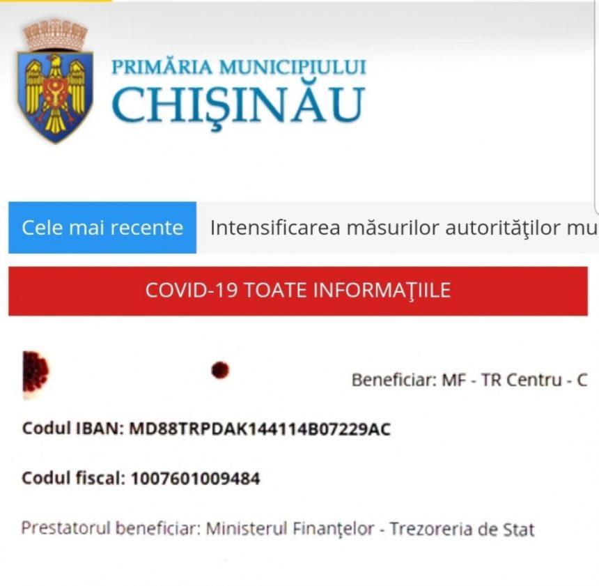 Distribuirea surselor financiare acumulate din donațiile făcute de cetățeni, pe contul deschis de Primăria Chișinău