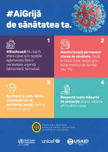 Reiterăm necesitatea respectării cu stricteţe a măsurilor de prevenire și reducere a riscului de transmitere a infecției COVID – 19 pe teritoriul ţării