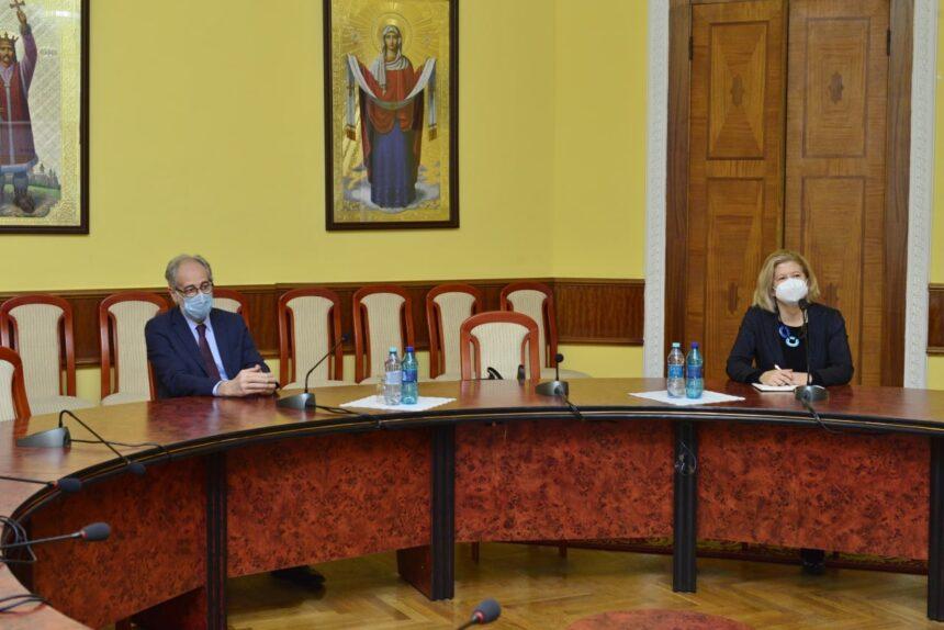 Primarul General, Ion Ceban, a primit în vizită ambasadoarea Italiei la Chișinău