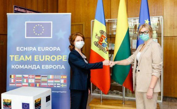 Lituania a donat Republicii Moldova un lot de 26.500 de doze de vaccin AstraZeneca
